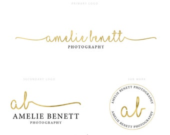 Feminine Logo Set. Gold Foil Logos. Instant Download Logos. Photography Logos. Free Fonts. DIY Watermarks. PSD Files. Logo Templates. #0497.