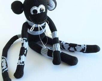 50% OFF-Sock Monkey-Star Wars-Handmade- Galactic-Republic-Star-Wars-Themed-Monkey-Plush-Black, White-Symbol