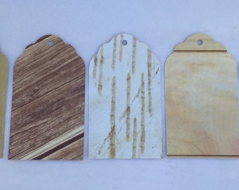 Wood grain paper gift tags, party favor tags, wedding favor tags, rustic gift tags