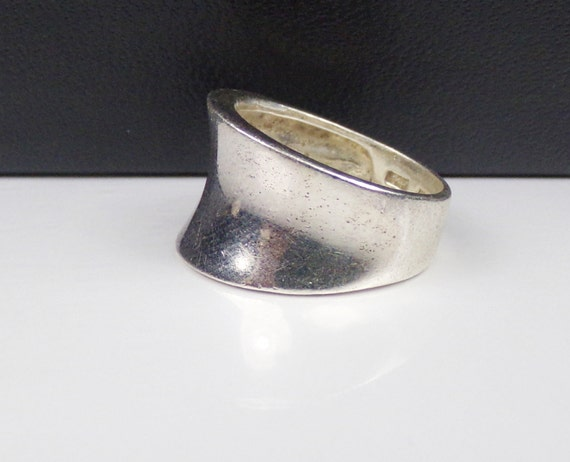 wide sterling silver 925 cigar band ring by littlebittreasures