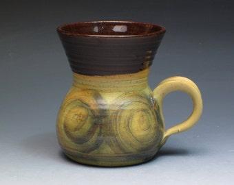 Alvingham Pottery Mug, Hand Thrown Studio Pottery Mug, 1970's Collectible Pottery, Pru Green
