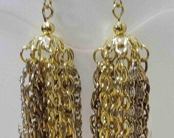 Gold, Silver, Gun Metal chain Chandelier Earrings