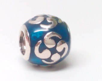 NEW Authentic Pandora Sterling Silver Turquoise ZEN / Blue Zen Enamel Charm 790491EN08