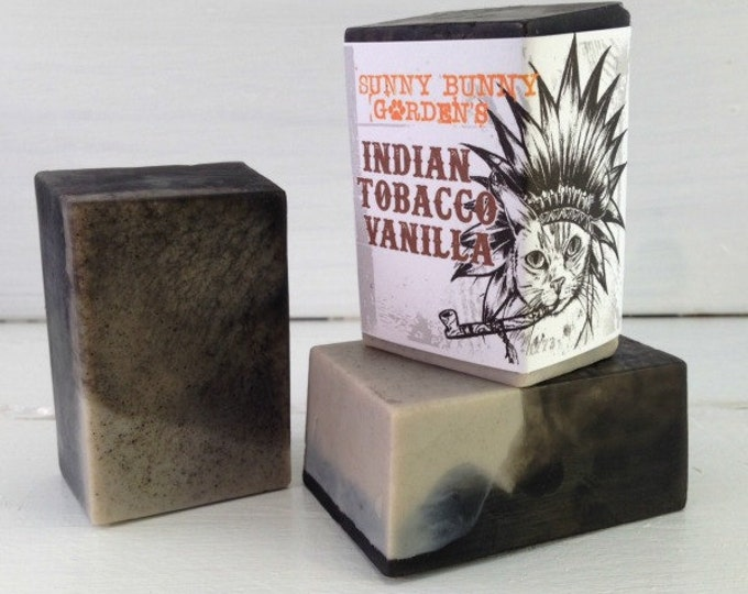 Indian Tobacco and Vanilla Soap Bar, Vanilla Soap for Men, Cool Soap for Men, Soap Men Like, Fun Gifts for Guys, Good Soap for Shaving