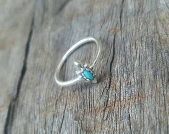 Turquoise Point of Light Stackable Ring