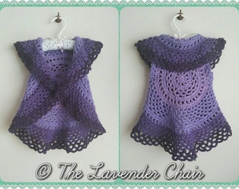 Ring Around the Rosie Vest Crochet Pattern *PDF FILE ONLY* Instant Download