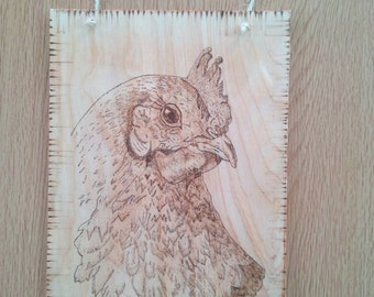 Hen/Poultry Wood Burning