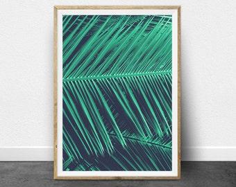 Tropical Print, Tropical Decor, Tropical Printable Art, Digital Art, Tropical Plant Print, Palm Tree Print, Leaves, Nature, Modern Interiors