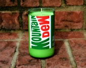 Mountain Dew Bottle Candle