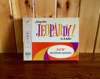 Jeopardy - Jeopardy Board Game - Milton Bradley Jeopardy - Vintage Milton Bradley - Jeopardy Game