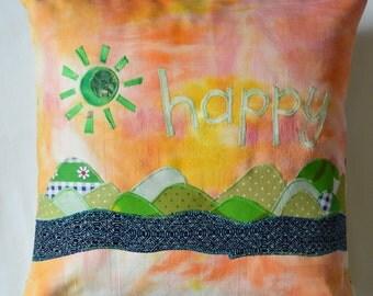 Happy Cushion - Green Rolling Hillside