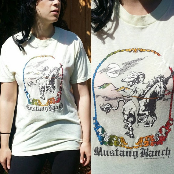 Vintage Mustang Ranch T Shirt Mustang Ranch Shirt 70s Tee