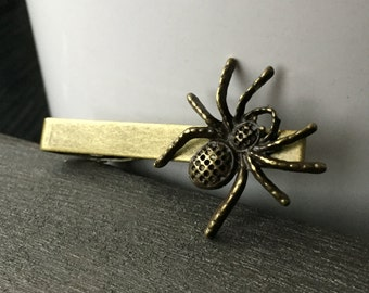 Scary Fathers Day Gift Mens Tie Clip or Spider Tie Clip - Gothic Tie Clip - Mens Accessories - Mens Jewelry - Tie Clips - Spider Tie Clips
