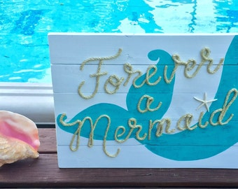 Handmade Forever A Mermaid Beach Pallet Art Coastal Decor
