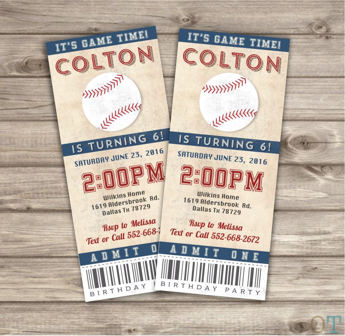 Vintage Baseball Birthday Invitations: Vintage Baseball Sport Birthday Printable Invitations Rustic