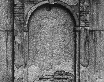 Fine Art Print Original Drawing Portal