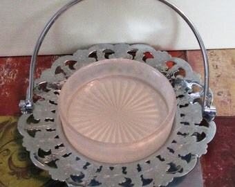 Vintage 1940s British Floral Serving Dish