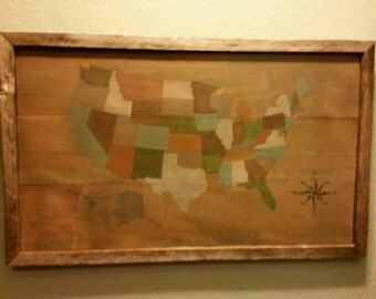 Rustic United States Map