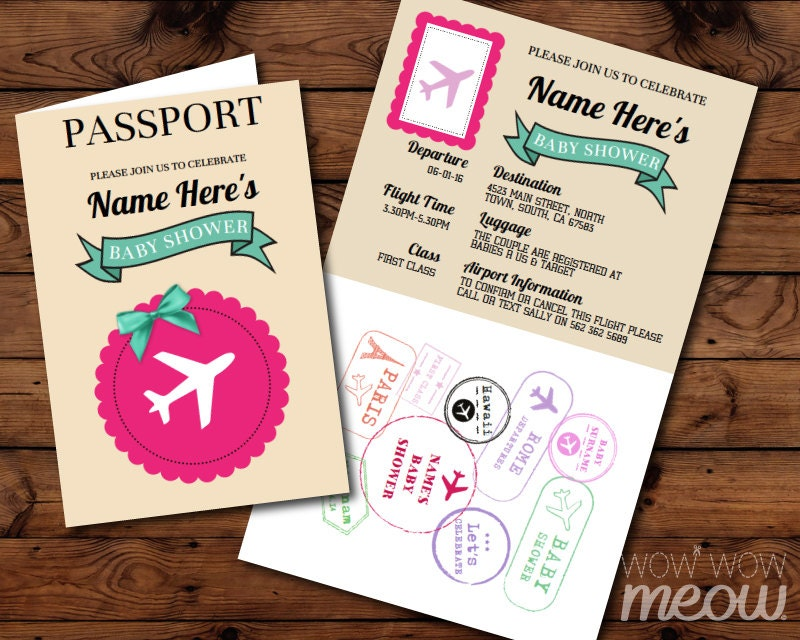 Airline ticket – Plane Ticket Invitation Template