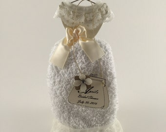 Vintage Wedding Washcloth