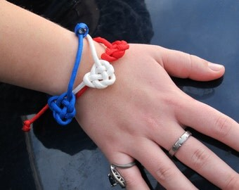 Celtic Knot Simple Paracord Single Slide Bracelet.   *Only one each of 6 color choices.*