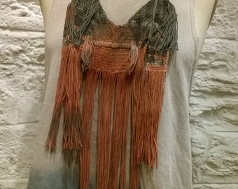 Natural dye Hand woven Necklace