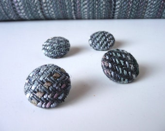 Buttons made from my Grey Handwoven Fabric