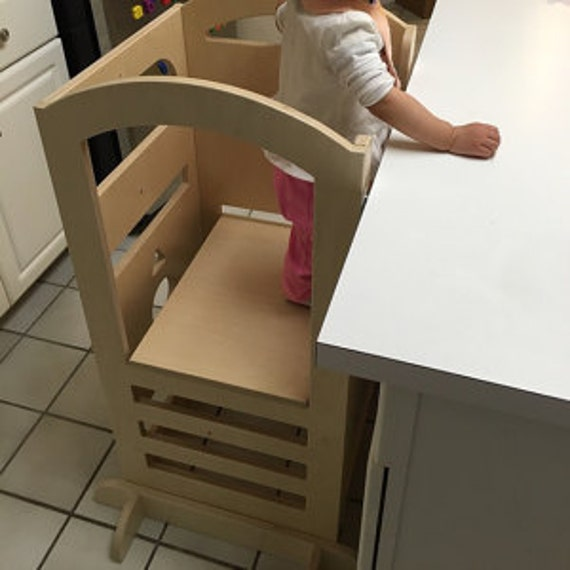 Kids Kitchen Helper And Double Height Hi Chair Learning