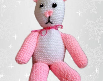 Teddy Bear Hand Knitted Toy