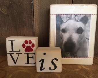 wood picture display, wood picture frame, pet frame, dog frame, dog picture frame, dog gift, personalized dog gift, dog lover