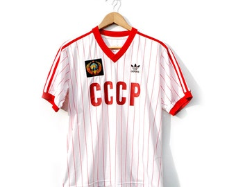 Rare limited edition 80's Adidas Russian national team football top.