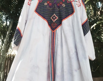 Vintage 70's Mexican embroidered dress