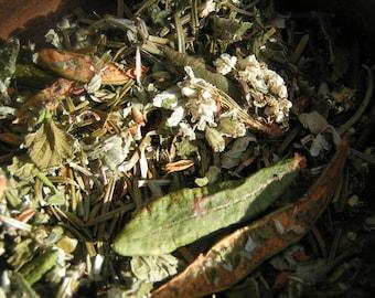 Tisane Du Sourcier 10g, calmante, antivirale, antioxydant, plantes du Québec/Du Sourcier tea 10g, calming, antiviral, plants of Quebec