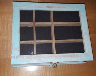Rustic Distressed Jewelry Box,Jewlery Box,Jewlery Holder