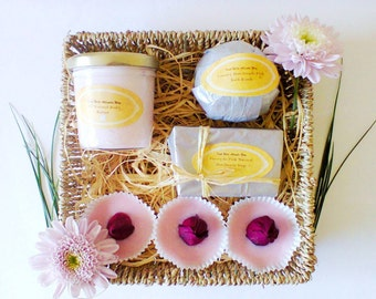 Spa Set, Bath Gift Set, Natural Skin Care, Gift for Teacher, Gift for Her, Natural Spa Set, Natural Spa Set, Bridesmaid Gifts