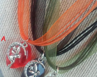 beautiful enchanted Fairy jewel Organza necklace