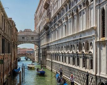 Venice Photography, Venice, Gondola, Italy Photography, Gallery Wall Art, Grand Canal Venice, Bridge of Sighs, Romantic Italy, Architecture
