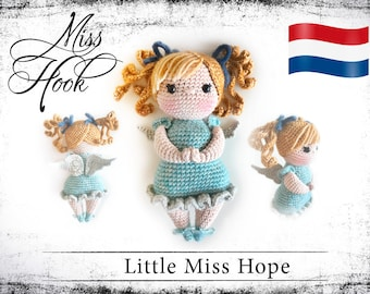 "Haakpatroon voor de pop ""Little Miss Hope"" beschermengel eBook PDF (dutch)"
