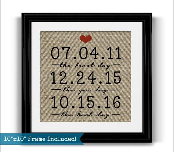 Unusual Wedding Anniversary Gifts Husband : ... Dates Personalized Wedding Gift Husband Gift Girlfriend Gift