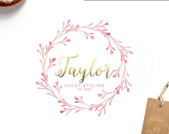 Affordable Customized Logo - Branding - Marketing - photography logo - event logo - design logo - wedding monogram - wreath logo - BL189E