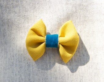 Mustard & Teal Bow