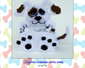 Puppy Dog Treat/Candy Holder-Plastic Canvas Pattern-PDF Download