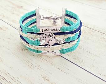 Kindness Bracelet, Positive Bracelet, Unicorn Jewelry, Infinity Bracelet, Friendship Bracelet, Gift for Her, Horse Jewelry, Quote Bracelet
