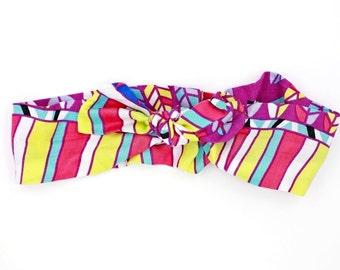 Neon Geo Knotted Headband