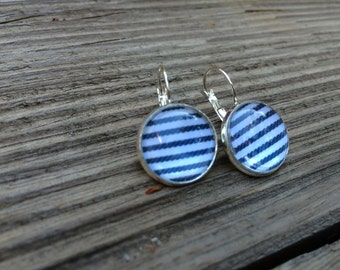 cabochons marine stripe earrings