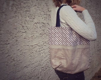 Linen Lined Iris Tote
