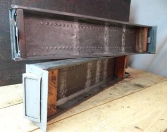 Nice Pair Of 1940'S Gray Metal Cabinet Drawers