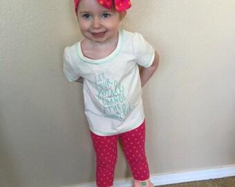 Pink and Orange Polka Dot Messy Bow Headband, M2M Matilda Jane