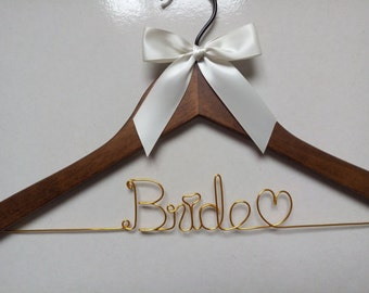 Sale, Hanger and ribbon, Personalized Wedding Hanger,bridesmaid Hanger,name hanger,bride hanger,bridal party gifts,custom hanger,hanger,gift