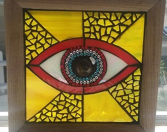 Eye of Knowledge stained glass mosaic